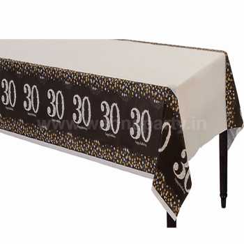 "30th Birthday Tablecover 54"" x 108""-0"
