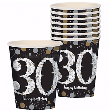 30th Birthday Paper Cup 9OZ - 8PC-0