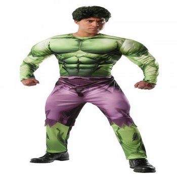 Deluxe Muscle Chest Adult Hulk Costume -0