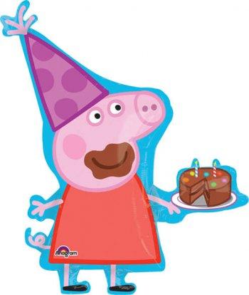 "Peppa Pig Super Shape Balloons 33""-0"
