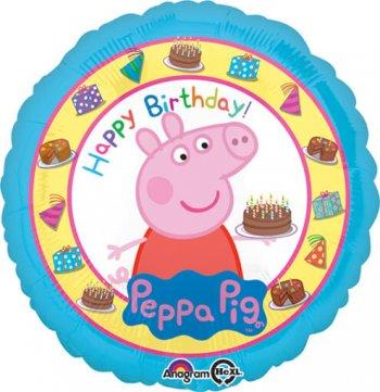 "Peppa Pig Birthday Balloons 18""-0"