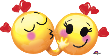 "Emoticons in Love Balloons 36"" P35-0"