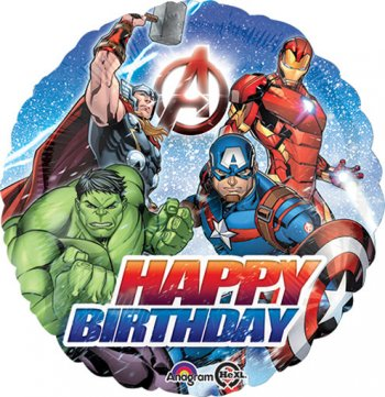 "Avengers Happy Birthday Balloons 18""-0"