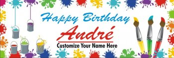 Customizable Flex Birthday Banner 5FT X 1.5FT -0