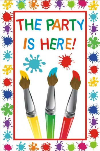 Party Is Here Flex Banner 4FT X 2FT -0