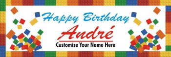 Customizable Flex Lego Birthday Banner 5FT X 1.5FT -0