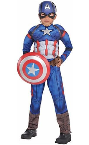 Captain America Muscle Costume -0