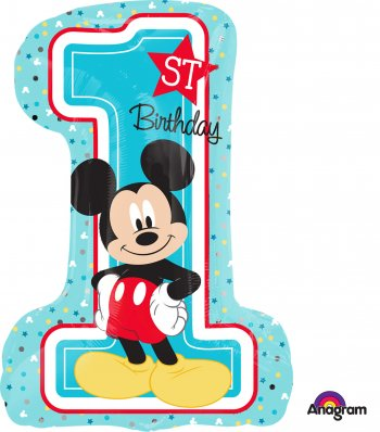 Mickey 1st Birthday Large Shape Balloons P38-0