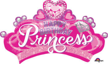 Princess Crown & Gems Balloons P38-0