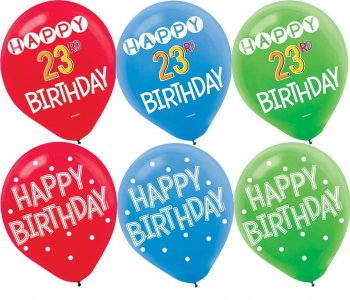 """Add An Age Customized Latex Balloons 12"""" - 15PC -0"""