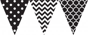 """Chalkboard Penant Bunting Flags - 12"""" X 10.5""""-0"""