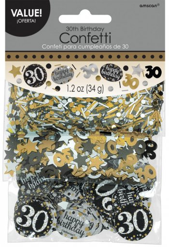 Sparkling Celebration 30th Confetti 1.2Oz-0