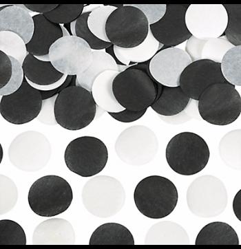 Tissue Paper Black & White Confetti - 0.8Oz-0
