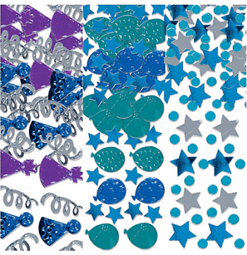 Birthday Celebration Blue Confetti 1.2Oz-0