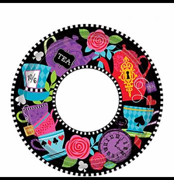 "Wonderland Tea Party 7"" Dessert Plates - 8PC-0"