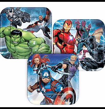 "Avengers Dessert Plate 7"" - 8PC-0"