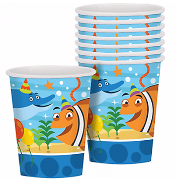 Ocean Buddies 9Oz Paper Cups - 8PC-0