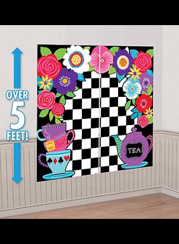 "Wonderland Mad Tea Party Scene Setter 65"" x 59"" - 5PC-0"