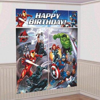 """Avengers Scene Setter 65""""x59"""" - 5PC-0"""
