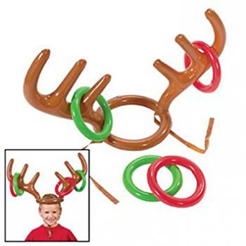 Reindeer Infaltable Ring Toss Game - 4 PC-0