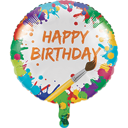 "Art Party Foil Balloons 18""-0"