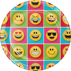 "Emojies Lunch Plates 9"" - 8PC-0"