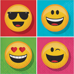 Emojies Lunch Napkins - 16PC-0
