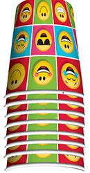 Emojies Paper Cups 250ML - 8PC-0