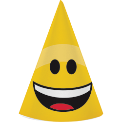 Emojies Kids Birthday Hats - 8PC-0