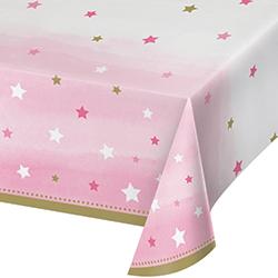 """Twinkle Twinkle Little Star Girl Tablecover - 54 x102""""-0"""