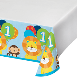 "One is Fun Boy Tablecover - 54 x102""-0"