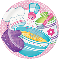 "Little Chef Paper Plates 9"" - 8PC-0"