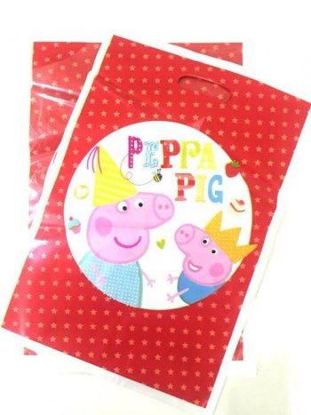 Peppa Pig Loot Bags - 10PC-0