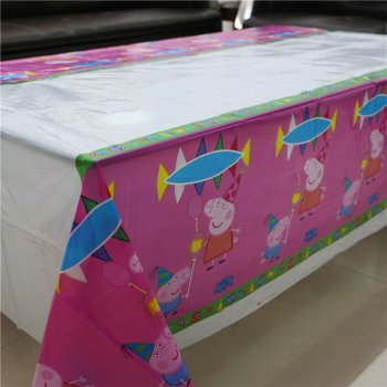 "Peppa Pig Table Cover - 52""in X 86""in-0"