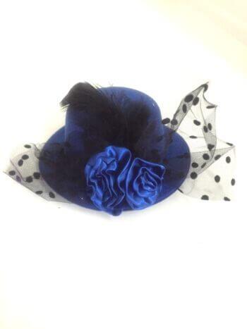 Blue Clip Top Net Headband-0