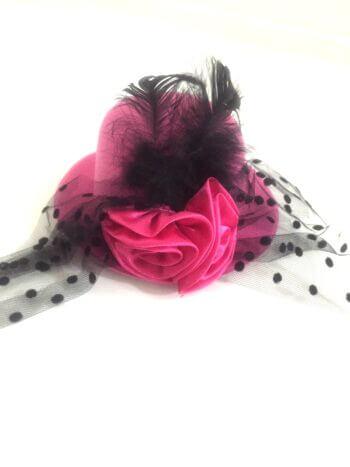 Pink Clip Top Net Headband-0