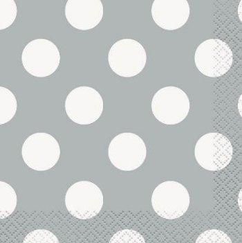 Polka Dot Tissues Silver - 20PC-0