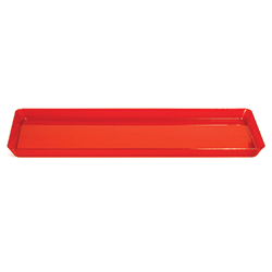 "Plastic Tray Red 15.5"" x 6""-0"