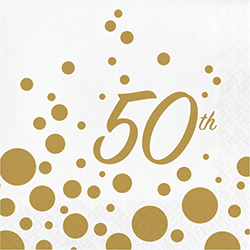 50th Anniversary Lunch Napkins - 16PC-0