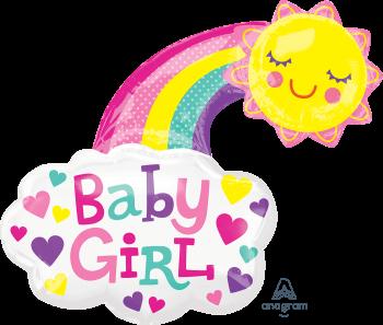 Baby Girl Bright Sun Balloons P38-0