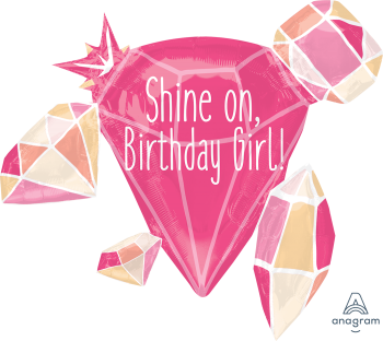 Shine on Birthday Girl Large Shape P40-0