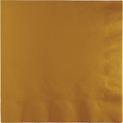 Glittering Gold Lunch Napkins - 50PC-0
