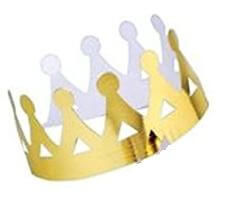 Queen Paper Crown - 10PC-0