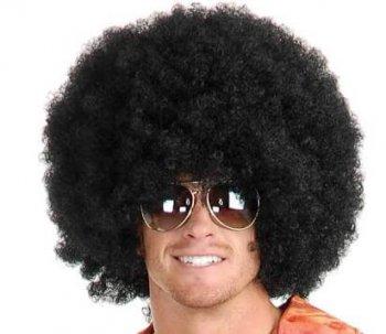 Black Dense Afro Wig-0