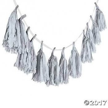 Silver Tassle Garland - 5PC-0