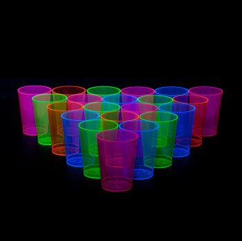 Plastic Neon Tumblers 300ML - 25PC-0