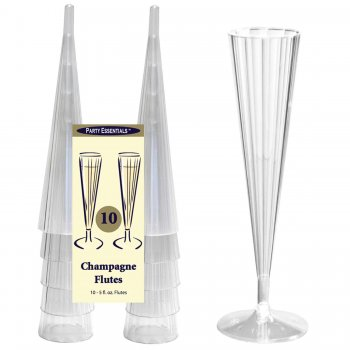 Champagne Glass Clear - 10PC-0