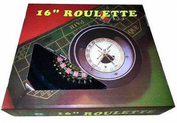 """16"""" Roulette Wheel w/Felt-0"""