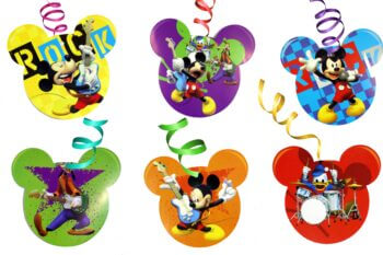 Mickey Mouse Swirl Decoration - 12PC-0
