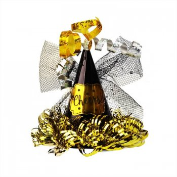 Mini Cheers Cone Clip Hat Black-0
